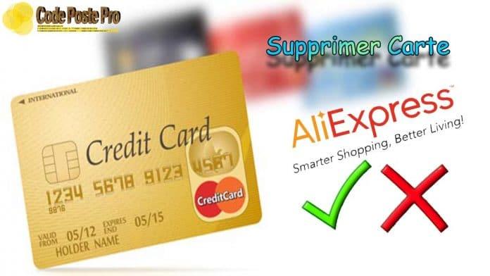 supprimer carte bancaire sur aliexpress